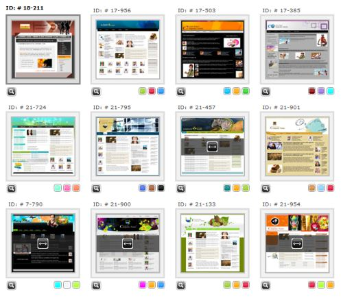 Our website builder includes over 900 templates with more being added every month.